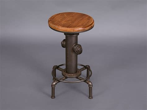 Industrial Bar Stool With Wood Top by Industrial Stool With Wooden Top Stools Furniture On