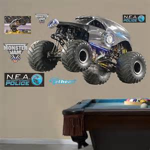 Monster Jam Wall Stickers fathead monster jam new world authority wall decal