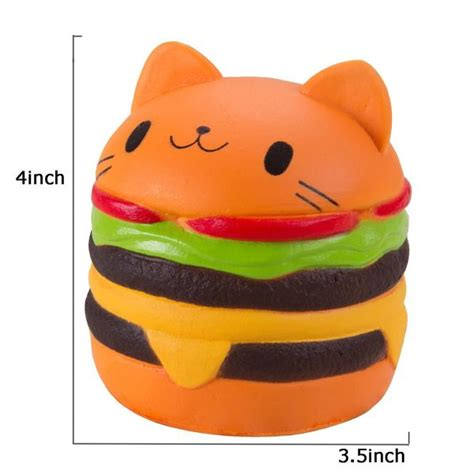 Squishy Burger Jumbo jumbo rise cat burger squishy squishyshop ca