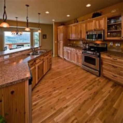 kitchen ideas on hickory cabinets rustic