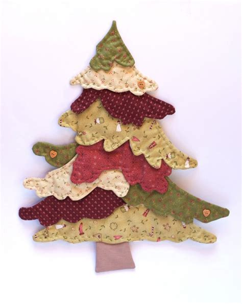 Patchwork Tree Decorations - 25 unique patchwork navidad ideas on