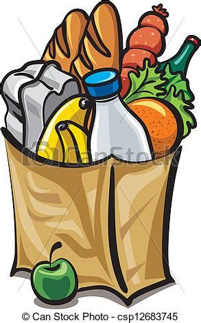 grocery bag clipart grocery bag clip cliparts