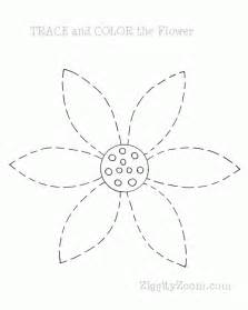 New  Preschool Printable Tracing Activity Let Kids Trace The Flower sketch template