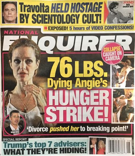 Gossip From National Enquirer by National Enquirer Flip Flops On Dying With