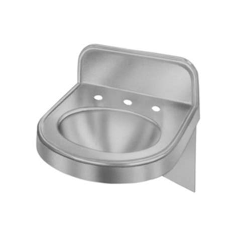 wall hung stainless steel sinks eelv18173 wall hung bathroom sink stainless steel at