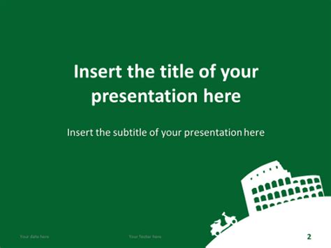 Dolce Vita Free Template For Powerpoint And Impress Italian Powerpoint Template