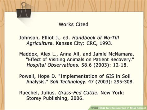 how do you cite your sources in a research paper how to cite sources in mla format with pictures wikihow
