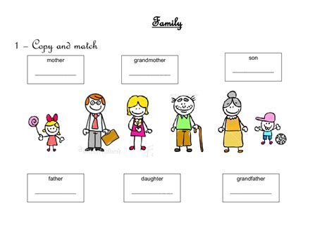 Family Worksheets In by 345 Free Family Friends Worksheets