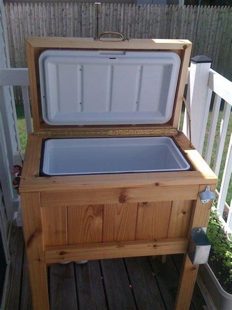 Diy patio deck cooler stand brilliant l o t s o f i d e a s pinterest