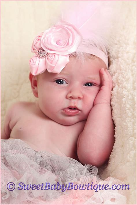 baby pink pettiskirt and feather headband hair bows baby pin by toenjes on baby headbands hair bows
