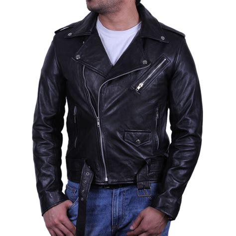 mens black leather motorcycle jacket mens black biker leather jacket safari
