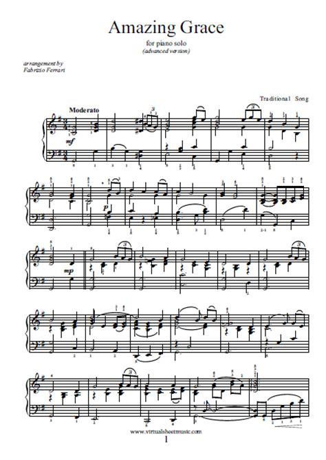 printable version of amazing grace piano sheet music amazing grace