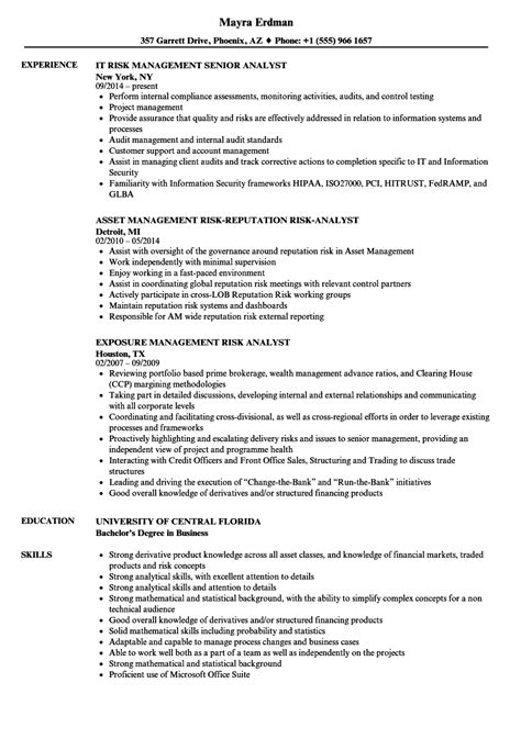 Risk Management Resume by Enterprise Risk Management Resume Qualities List What Is