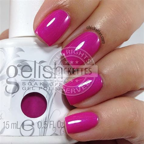 gelish color swatches gelish ooh la la collection chickettes soak gel