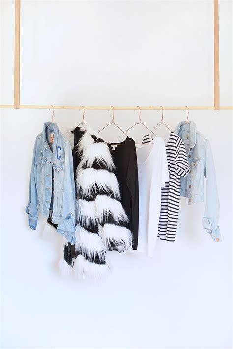 Wardrobe To Hang Clothes by Diy Hanging Clothes Rail Burkatron