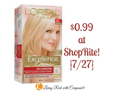loreal coupon loreal excellence hair color    shoprite  living rich