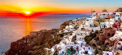 Color Combination by Santorini The Most Romantic Island In The World