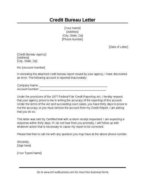 sample credit bureau dispute letter hashdoc credit