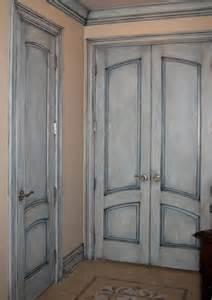 painting bedroom doors antique blue crackle