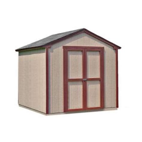 handy home products kingston 8 ft x 8 ft wood shed kit