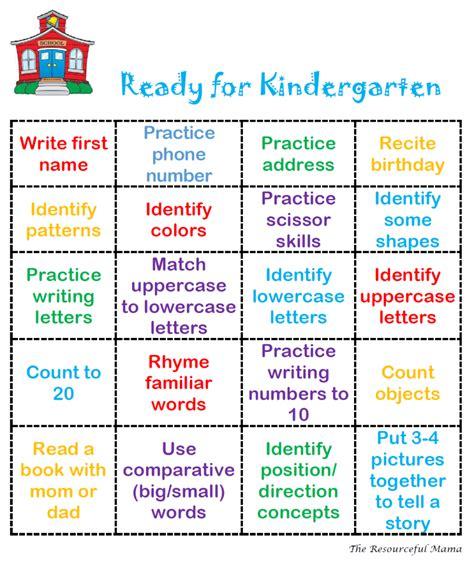 printable bingo games for kindergarten ready for kindergarten bingo free printable bingo cards