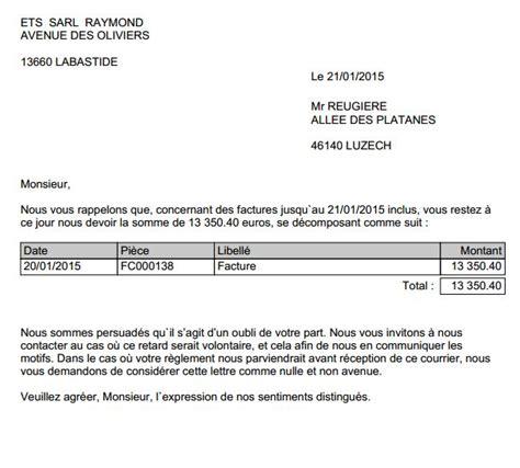 Lettre De Relance Entreprise Nouveaut 233 So Fa Suivi Des R 232 Glements Clients