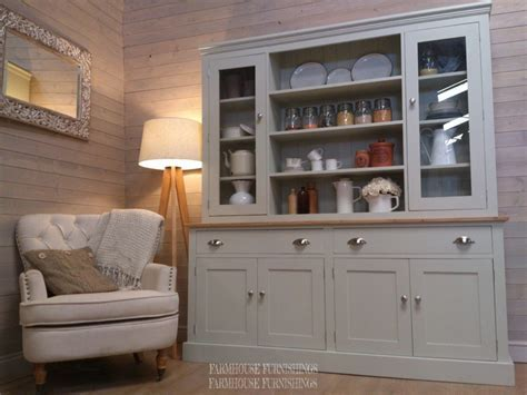 Hand Made Solid Pine Painted Welsh Dresser   Farmhouse