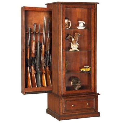 home depot gun cabinet furniture classics 29 30 cu ft 10 gun and curio