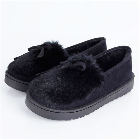 bottom loafers just to compliment the mink new womens winter warm slippers fur lined sole slip
