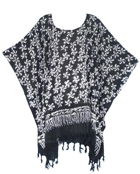 Kaftan Batik 24 black batik caftan kaftan tunic top blouse plus size