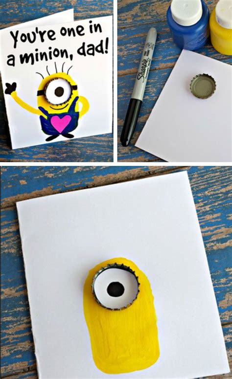 easy to make fathers day cards hostingecologico you re one in a minion easy