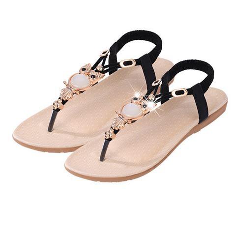Sandal Bohemian 8 bohemian beaded flat sandal top tier style