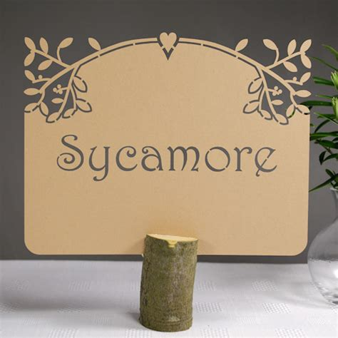 personalised laser cut wedding table name cards sweet