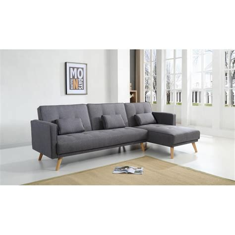 canape d angle convertible reversible scandinave canap 233 d angle r 233 versible convertible gris