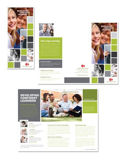adult education tri fold brochure template