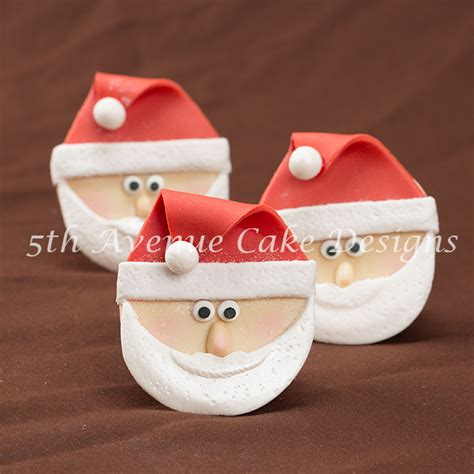 how to sculpt santa claus cupcakes 5thavenuecakedesigns