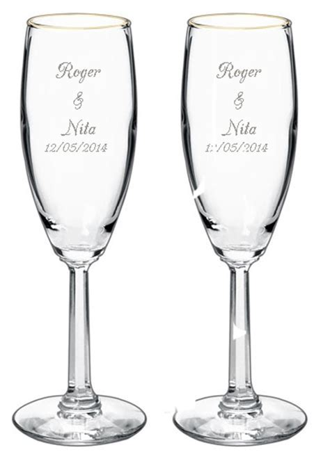 Wedding Flute Engraving Ideas