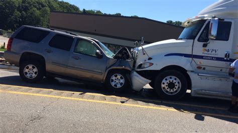 suv crashes into tractor trailer after driver