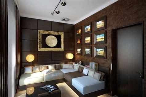 desain interior rumah warna coklat  mewah