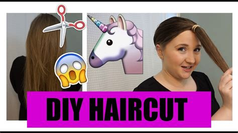 diy cutting a stacked haircut diy layered haircut how i cut my hair at home unicorn