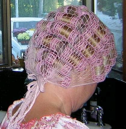 husband hair curlers rollers curling pink net over pink rollers nice curled set pinterest
