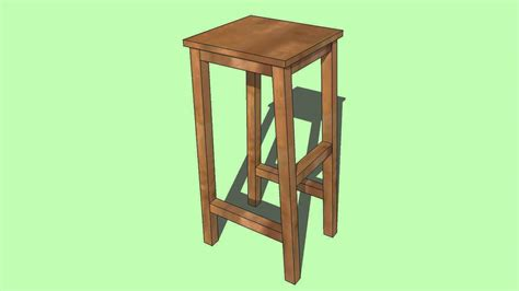 build  wooden bar stool youtube