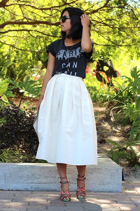 nine ways to wear a midi skirt