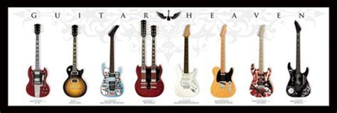 Wall Murals For Sale guitar heaven legendary guitars poster buy online