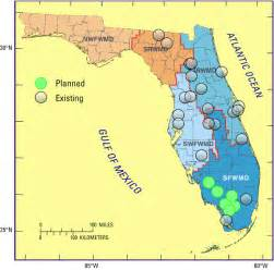 florida water map florida water management districts map