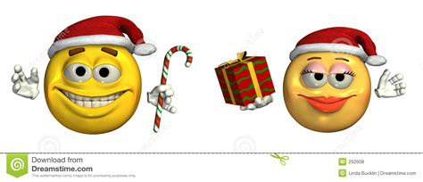 christmas emoticons big emoticons includes clipping path stock illustration image 292608