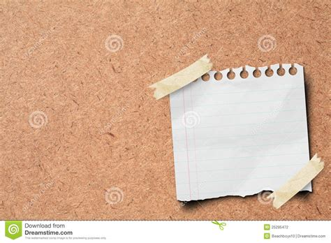 stick paper note paper stick on wooden board stock photography