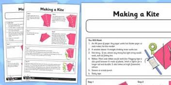 How To Make A Paper Kite Step By Step - let s go fly a kite activity sheet a kite fly kite
