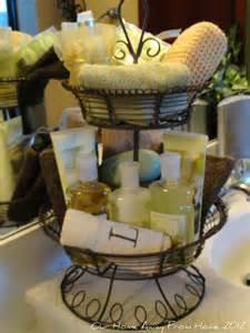 Bathroom Gift Ideas by Our Home Away From Home Tiered Basket In The Bathroom And