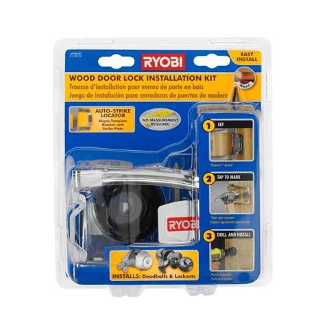 ryobi wood door lock installation kit a99dlk1 the home depot